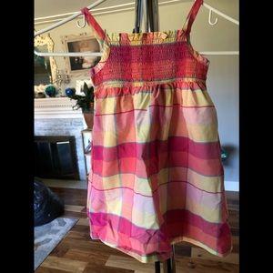 New 24 month spaghetti strap plaid dress